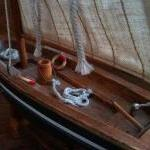 Vintage English Blue Oyster Boat, W..