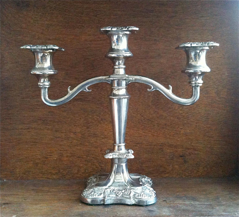 Vintage English Silver Candelabra 507635d2b